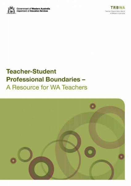 Teacher Registration Board of Western Australia publishes new resource