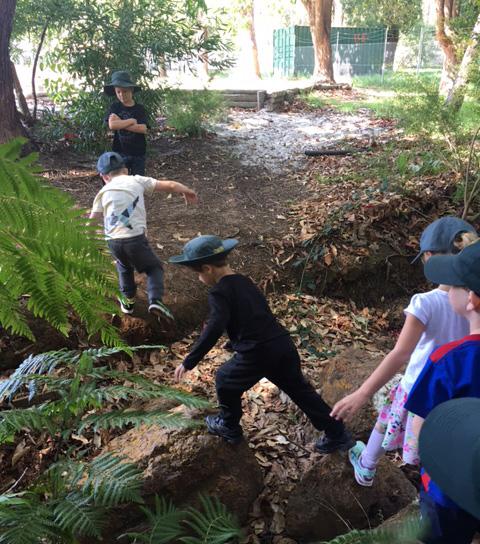 CEWA Teachers create learning through play with 'Bush School'