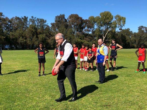 Prime Minister kicks goals at Clontarf