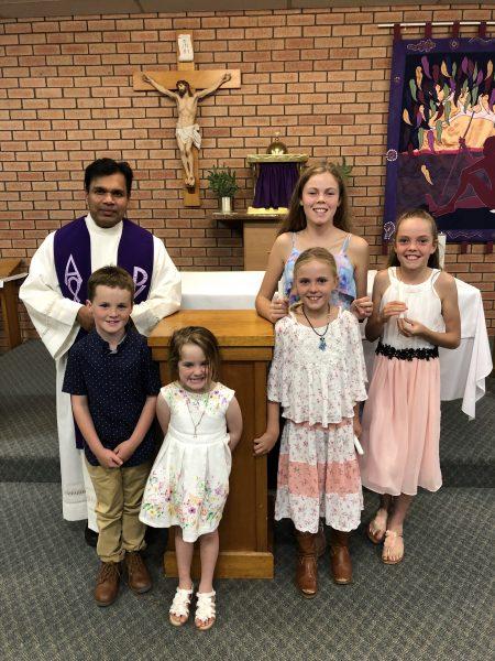 St Mary's Boyup Brook celebrates baptisms during Lent