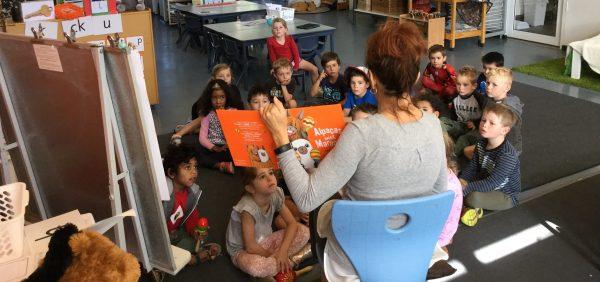 Alpaca Macca enchants CEWA students during national storytime