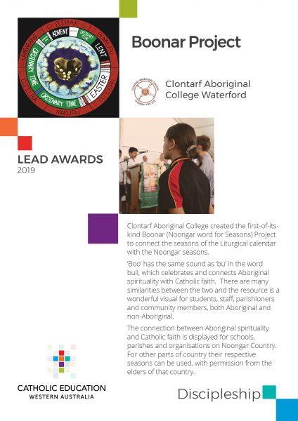 Clontarf links culture and spirituality to win LEAD Awards People's Choice