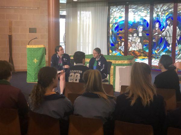 Student-led prayer at Newman