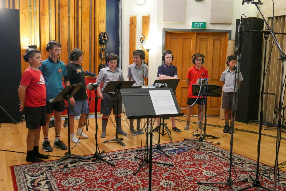 Schola recording for Andrea Corr P1150223